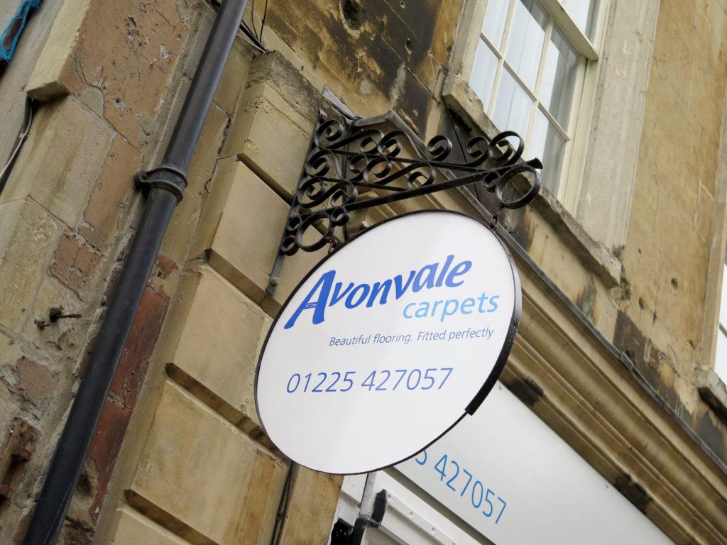 Avonvale carpets bath sign
